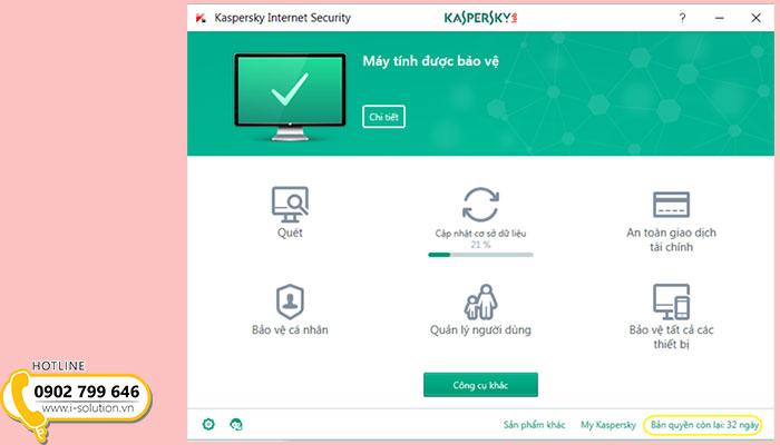 Hướng dẫn gia hạn bản quyền phần mềm diệt virus Kaspersky