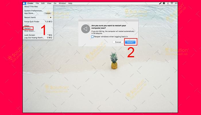 Reset MacBook trở về trạng thái ban đầu