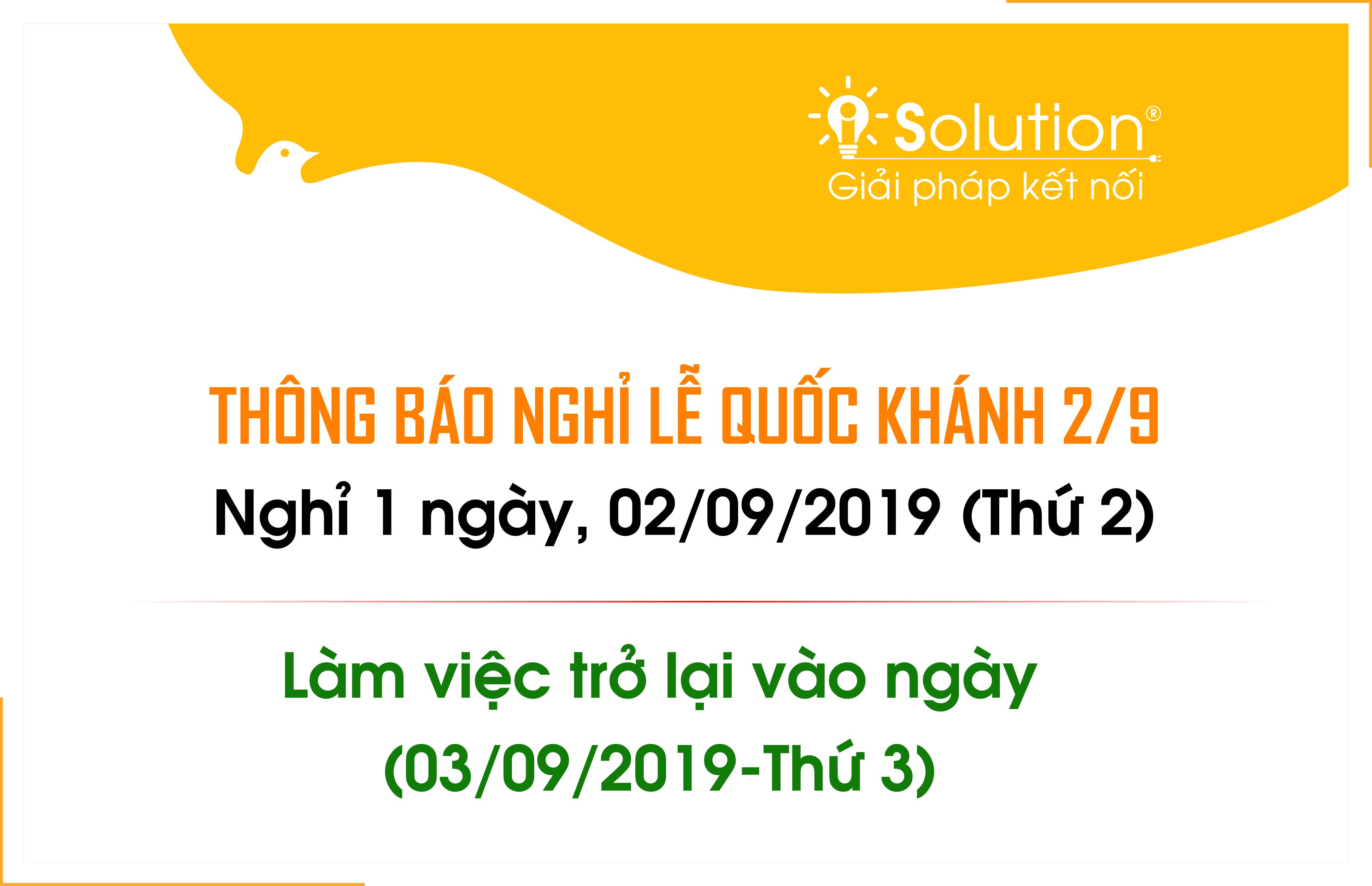 Thông báo nghỉ lễ ngày quốc khánh Việt Nam