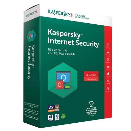 KASPERSKY INTERNET SECURITY 2017 (3 PCS)