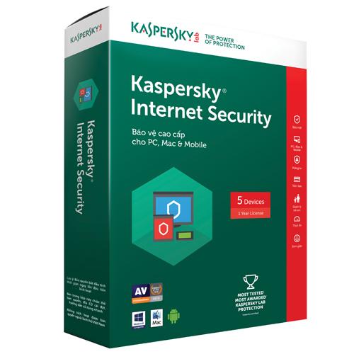 KASPERSKY INTERNET SECURITY 2017 (5 PCS)