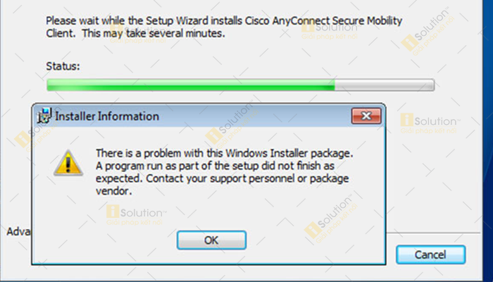 Khắc phục lỗi There Is A Problem With This Windows Installer Package